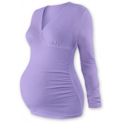 Těhotenské triko/tunika dlouhý rukáv EVA - levandule