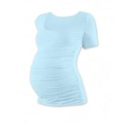 Těhotenské triko krátký rukáv JOHANKA - světle modrá