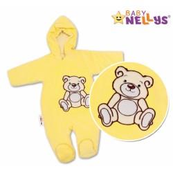 Kombinézka/overálek TEDDY BEAR - krémová, žlutá