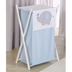 Praktický koš na prádlo SLON - modrý