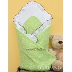 Krásná zavinovačka s volánkem - Květinky v zelené
