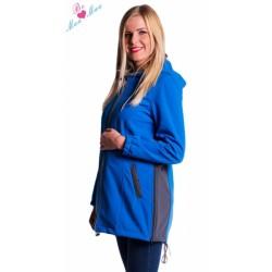 Těhotenská softshellová bunda,kabátek - modrá
