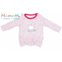 Halenka/tričko dlouhý rukáv Mamatti SHEEP - červený puntík