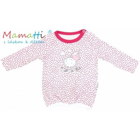 187b6f95605 Halenka tričko dlouhý rukáv Mamatti SHEEP - červený puntík