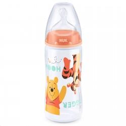 Kojenecká láhev NUK Medvídek Pú 300 ml oranžová tigger, Oranžová