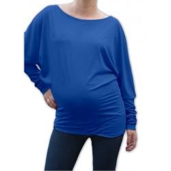 Symetrická těhotenská tunika - tm. modrý inkoust