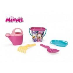 Sada na písek Minnie plast 5ks 25x18cm v síťce 12m+