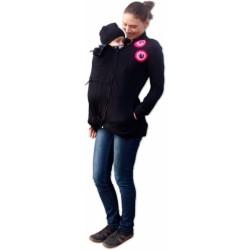 Mikina pro nosící, těhotné - s aplikací růžových koleček