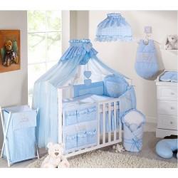 Luxusní mega set s moskytiérou - Zajíčci modří kostička