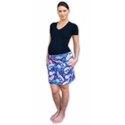 Letní těhotenská sukně s kapsami - vzor č. 02