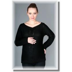 Těhotenský svetřík TIA - černý
