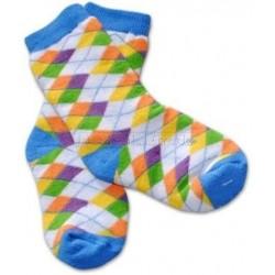 Bavlněné  froté ponožky 12m+ - kárko barevné