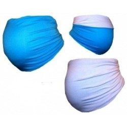 Těhotenský pás DUO - modrá s bílou