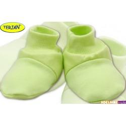 Botičky/ponožtičky BAVLNA - sv. zelené/pistacie