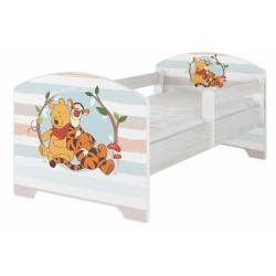 Dětská postel Disney - Medvídek PÚ proužek
