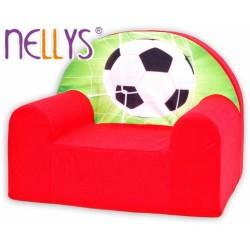 Dětské křesílko/pohovečka Nellys ® - Fotbal