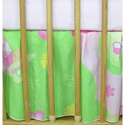 VÝPRODEJ Krásný volánek pod matraci - Motýlek růžový