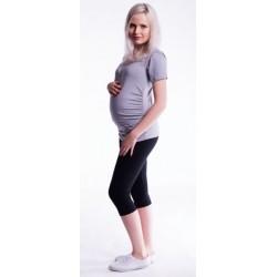Těhotenské barevné legíny 3/4 délky - černá
