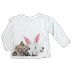 Košilka NICOL PŘÁTELÉ - BIO bavlna - smetanová