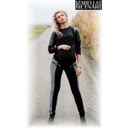 Těhotenské kalhoty XENIE  - šedé/grafit