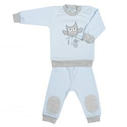2-dílná kojenecká souprava New Baby Owl modrá, Modrá, 56 (0-3m)