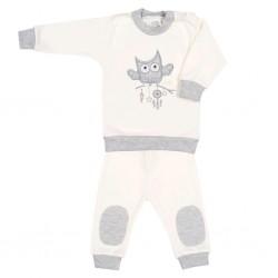 2-dílná kojenecká souprava New Baby Owl béžová, Béžová, 62 (3-6m)