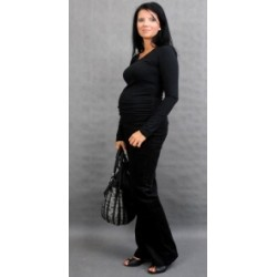 Těhotenské triko ELLIS - černá