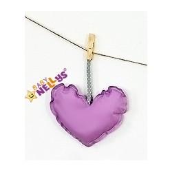 Dekorace BE LOVE SRDÍČKO - fialová