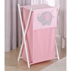 Praktický koš na prádlo SLON - růžový