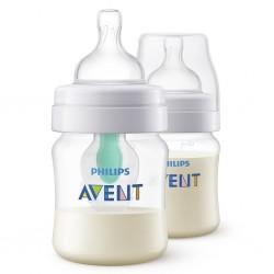 Kojenecká láhev Avent Anti-colic s ventilem AirFree 125 ml 2ks, Transparentní
