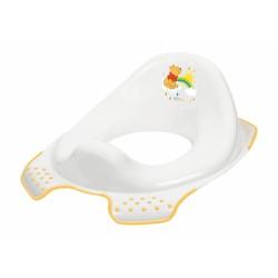 Adaptér - treningové sedátko na toaletu Medvídek PÚ - bílý