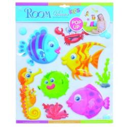 Dětské samolepky na zeď POP UP - rybičky