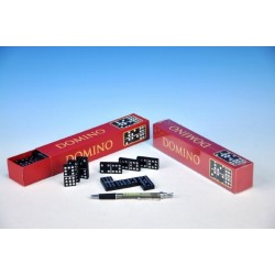 Domino společenská hra dřevo 55ks v krabičce 23,5x3,5x5cm