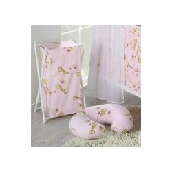 Kojící polštář - Žirafky růžové