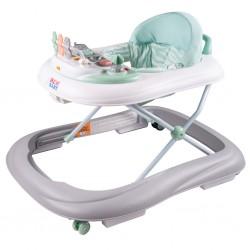 Dětské chodítko se silikonovými kolečky New Baby ABC Brilliant Star, Zelená