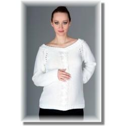 Těhotenský svetřík TIA - bílý
