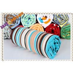 Bavlněné prostěradlo - Proužky čokoláda