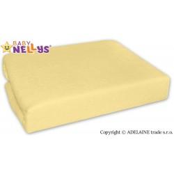 Nepromokavé prostěradlo Baby Nellys ® -  Krémově žluté