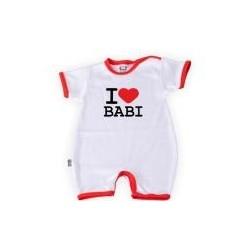 Body kr. rukáv s nohavičkami  I LOVE BABI