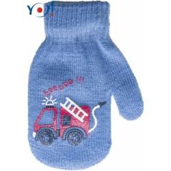 Kojenecké chlapecké akrylové  rukavičky YO - modré