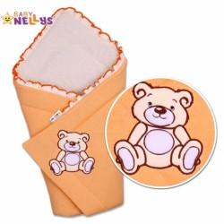 Zavinovačka TEDDY BEAR Baby Nellys - jersey - losos/meruňka