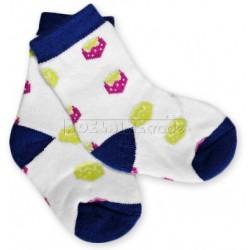 Bavlněné  froté ponožky 6-12m - jahůdky