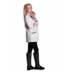 Tunika, šaty 3/4 rukáv - ecru/smetanová