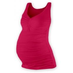 Těhotenský topík JOLANA - sytě růžová