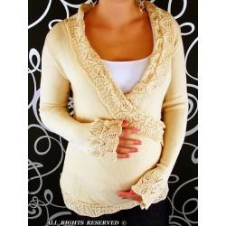 Těhotenský svetřík - Maminka I. - béžová