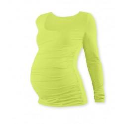 Těhotenské triko JOHANKA s dlouhým rukávem - sv. zelená