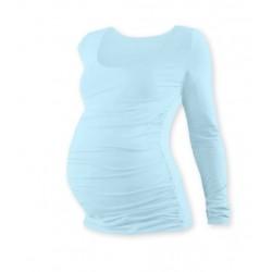 Těhotenské triko JOHANKA s dlouhým rukávem - sv. modrá
