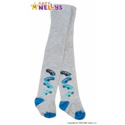 Bavlněné punčocháče Baby Nellys ®  - 4 autička sv. šedé