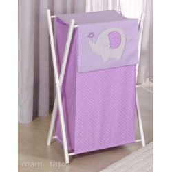 Praktický koš na prádlo SLON - fialový