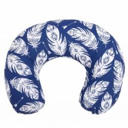 Kojící polštář New Baby Pírka modrý, Modrá